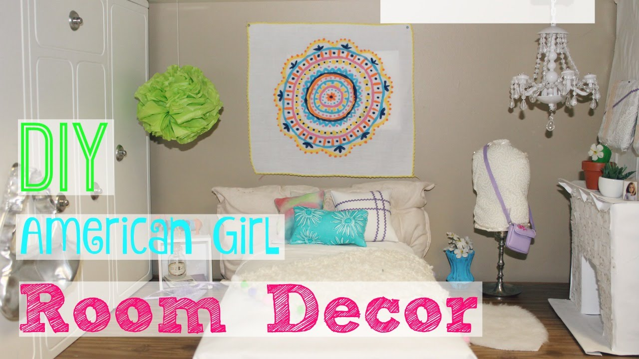 Diy american girl room decor youtube for Diy room decorations youtube