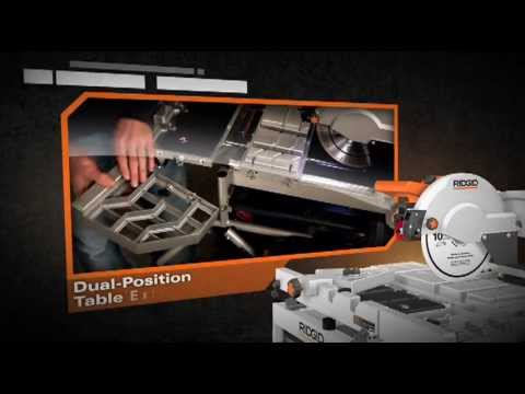 """RIDGID 10"""" Variable Speed Commercial Tile Saw - The Home Depot"""