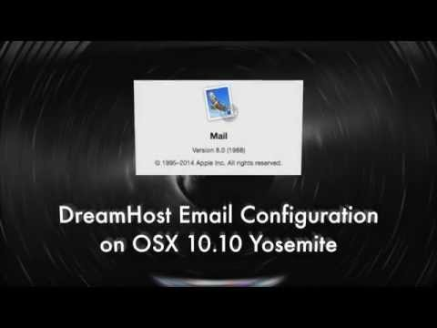 DreamHost Email Setup on Mail in OSX Yosemite