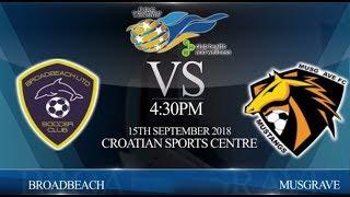 FGC CHW Coast League Grand Final - Broadbeach Utd vs Musgrave GU (1-5).