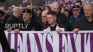 Tommy Robinson UKIP Brexit March Part 1