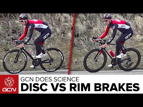 Are Disc Brakes Faster? Disc Brakes Vs Rim Brakes | GCN Does Science