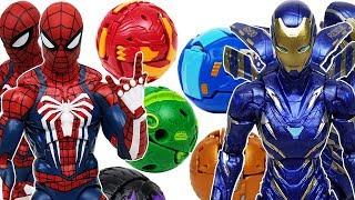 Spider-Man, Rescue, Bakugan Battle Planet! Defeat the Thanos! Iron Man, Hulk, Dragonoid, Nillous