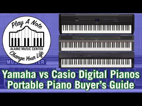Yamaha P515, P125 & P45 vs Casio PX770 & PX160 Digital Pianos   Keyboard Shootout