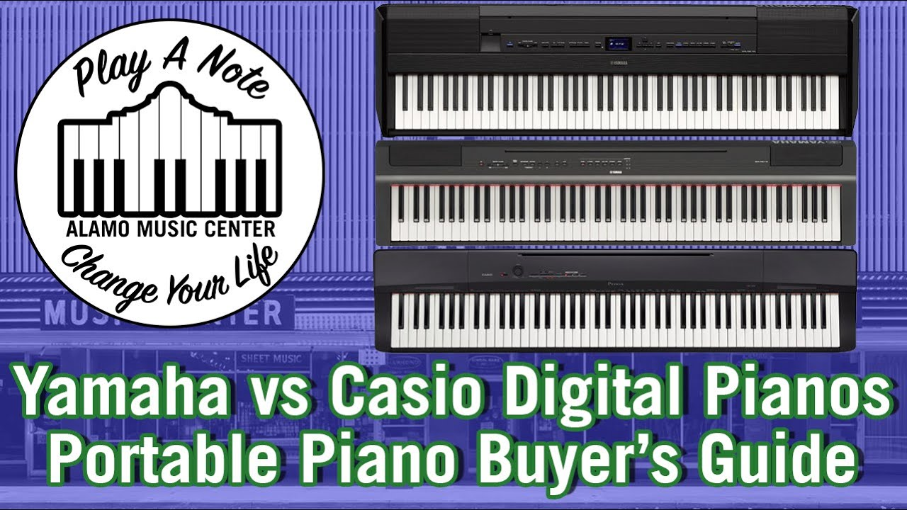 Yamaha P515 P125 P45 Vs Casio Px770 Px160 Digital Pianos Keyboard Shootout