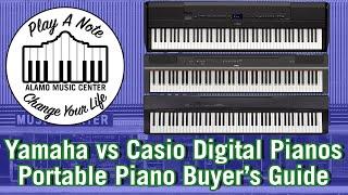 Yamaha P515, P125 & P45 vs Casio PX770 & PX160 Digital Pianos -  Keyboard Shootout