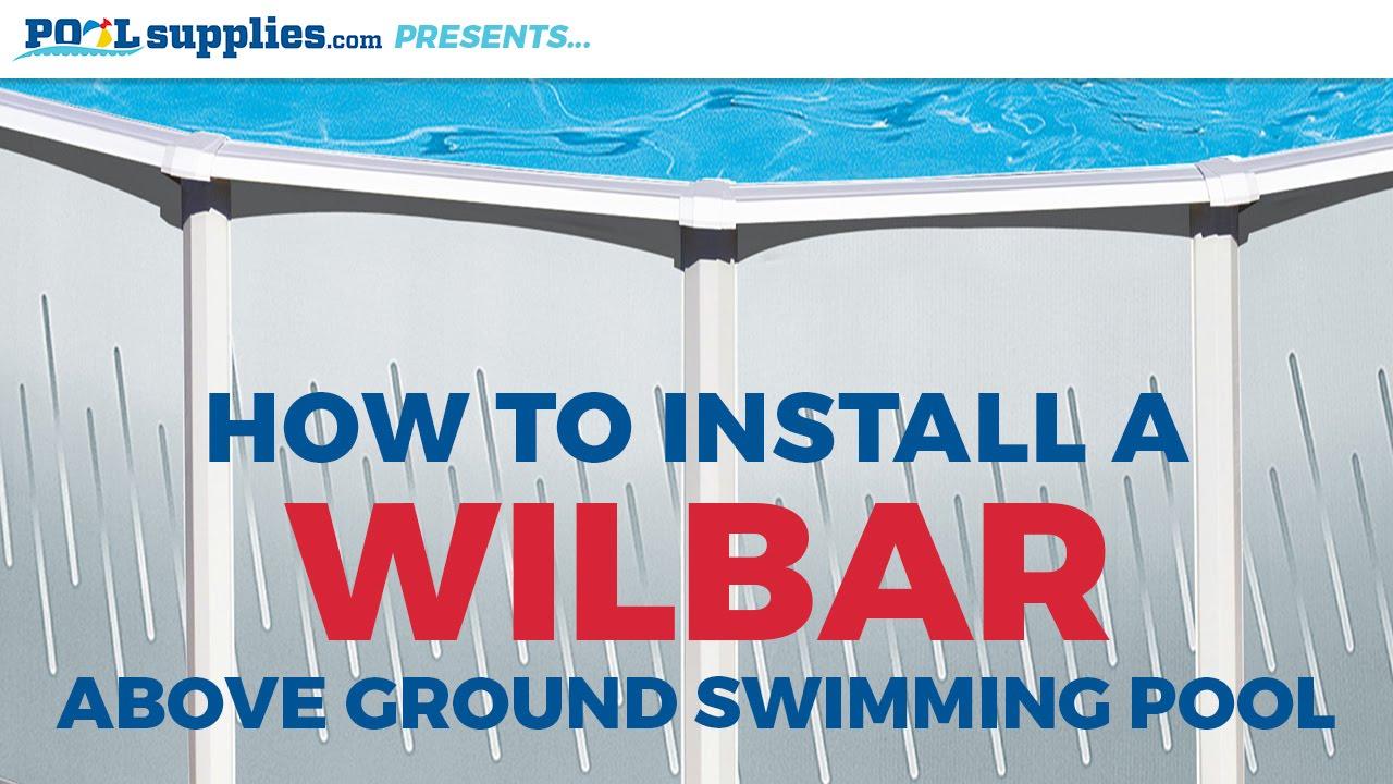 Wilbar Round Above Ground Pool Installation Youtube