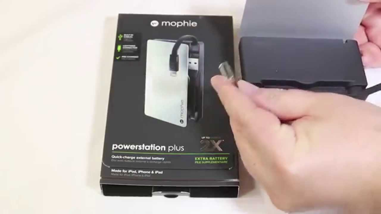 sale retailer 7cab2 8308d Mophie powerstation plus Battery Pack Unboxing Review @Mophie