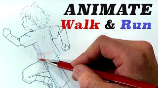 Tips & Tricks on How to draw WALKING and RUNNING|Japanese anime & Manga