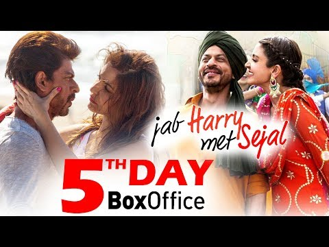 Jab Harry Met Sejal की पाचवे दिन की कमाई - Box Office Prediction - Shahrukh Khan, Anushka Sharma