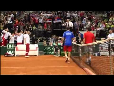 Stepanek - Tipsarevic (MIDLLE FINGER FROM ALL ANGLS)