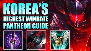 OP KOREAN HIGHEST WIN RATE PANTHEON GUIDE [ League of Legends ]