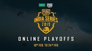 Oppo X PUBG Mobile India Series Online Playoffs | Round 2 Day 1