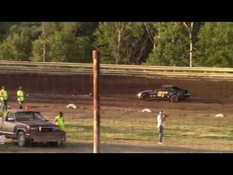 Hummingbird Speedway (7-13-19): Lockwood Processing Four-Cylinder Heat Race #1