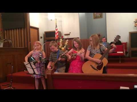 Piqua SDA Christian school kids singing 10/8/2016