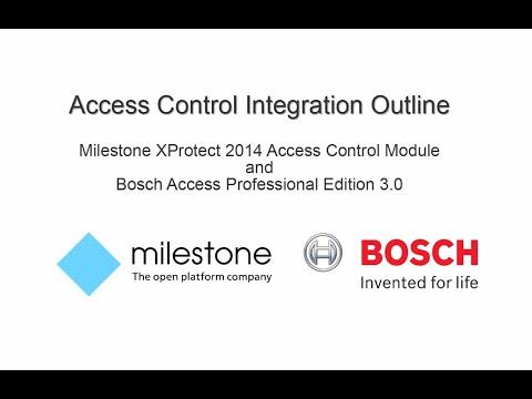 Bosch Security - Access control integration - Milestone and Bosch APE 3.0. technical