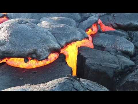 Hawaii Lava Flow on the Big Island Highlights from May to August 2016