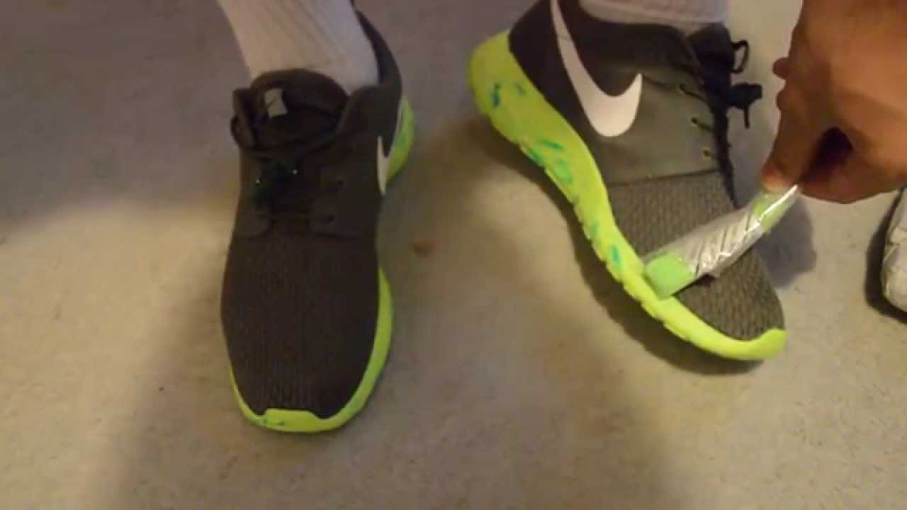 half off 4288c 45971 Nike Roshe Run Volt Green/ Olive Iguana Footlocker Unboxing + review and on  foot