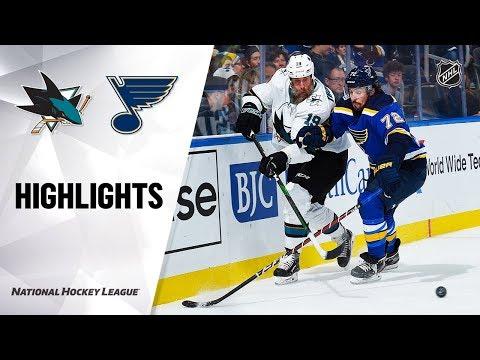NHL Highlights   Sharks @ Blues 1/7/20