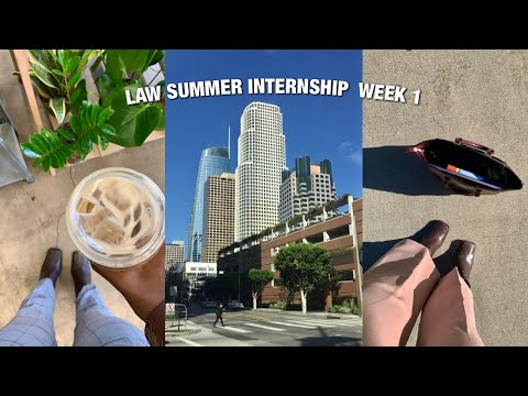 LAW INTERNSHIP VLOG: workwear thrift haul, jury selection, trial brief + eye contact with a killer