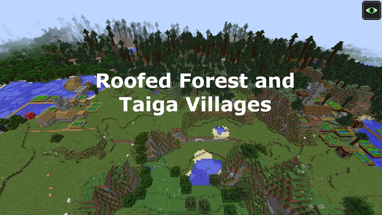 Roofed Forest And Taiga Villages Youtube