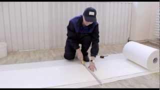 Советы по ремонту. Клеим обои.(Подложка под обои EcoHeat предназначена для дополнительной тепло и шумоизоляции помещений. В этом ролике мы..., 2013-01-30T10:15:46.000Z)