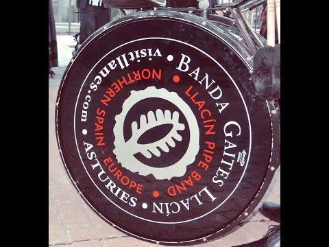 Bag Pipe Extraordinary Banda De Gaitas from Llacin Asturias Spain / St. Patrick would be proud