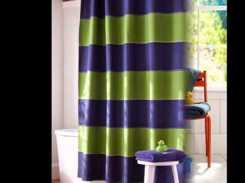 Blue Striped Shower Curtain by betterbuildingsnh.com