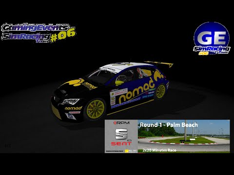 SEAT LEON CUP-[RF2]@XtremeRPM- R1 - Palm Beach@Onboard#06@NOMAD GAMING EVENTS SRT