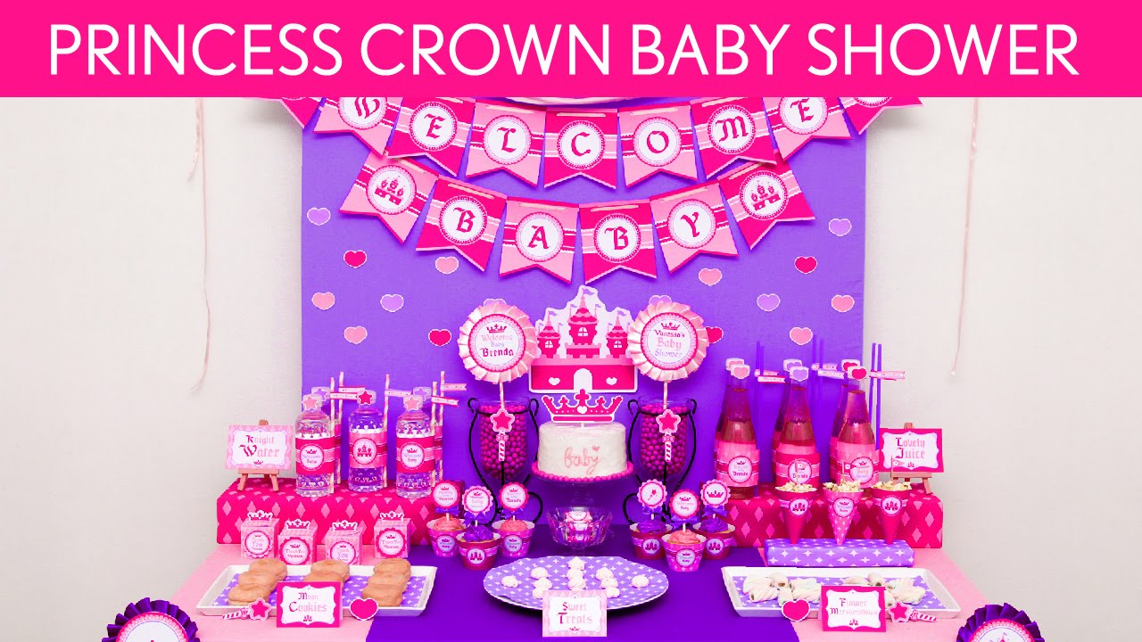 Pink Princess Crown Birthday Party Ideas Pink Princess Crown