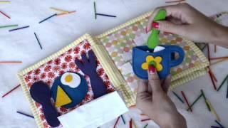 Quiet book, Handmade busy book, Fabric Activity Book, Handmade Fabric quiet book