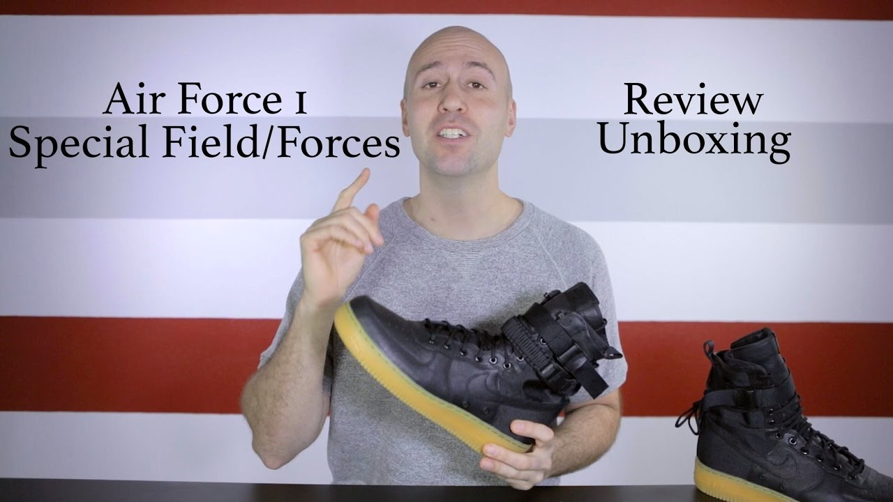 separation shoes 569a0 9a8be Nike Air Force 1 SF Special Field Black - Unboxing + Review + On feet - Mr  Stoltz 2016 - YouTube