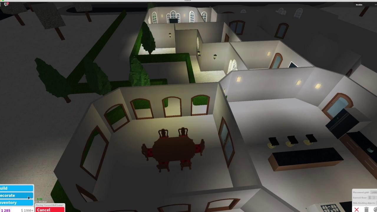 Roblox Bloxburg One Story Mansion Build Speedbuild Youtube