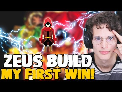 Wizard Of Legend - The Zeus Build!  Non-Stop Lightning | My First Win