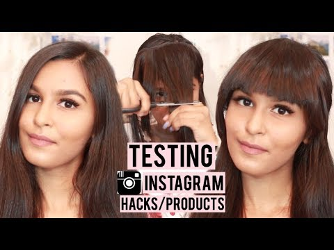 Instagram Beauty Hacks TESTED! DIY Fringes, CarbonCoco, Teami Detox & More!