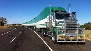 Грузовые автопоезда в Австралии Road Trains Australien