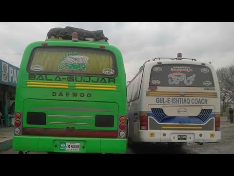 Gule Ishtiaq Coach Vs Bala Gujjar Movers   Hazara Buses  