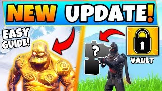 Fortnite Update: GOLDEN ICE BRUTES GUIDE + *NEW* Stuff! (Battle Royale's Sneaky Snowman Patch)