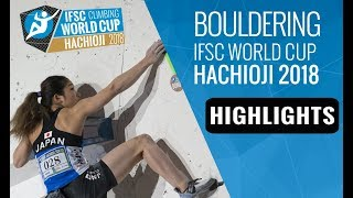 IFSC Climbing World Cup Hachioji 2018 - Bouldering Finals Highlights