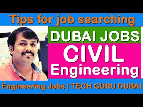 Dubai jobs for Civil Engineers | HINDI URDU | TECH GURU DUBAI