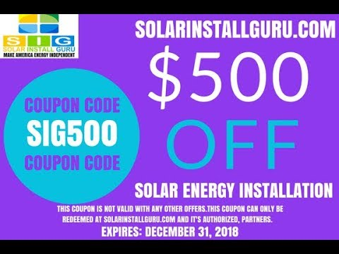 How to earn a $500 coupon to reduce your solar panel install
