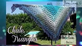 Châle triangles Pat Trishia's designs