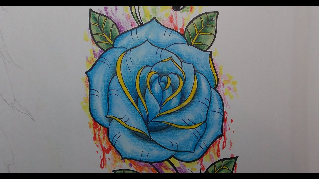 Como Desenhar Uma Rosa Para Tatuagem Youtube