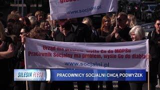 Protest pracowników Miejskiego Ośrodka Pomocy Społecznej w Sosnowcu 05.10.2018