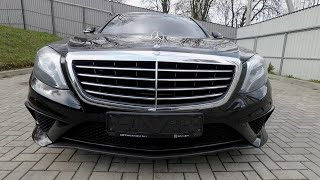review car Mercedes-Benz S-class W222 , 2013.  Обзор авто Мерседес Бенц S-класс 2013 года.