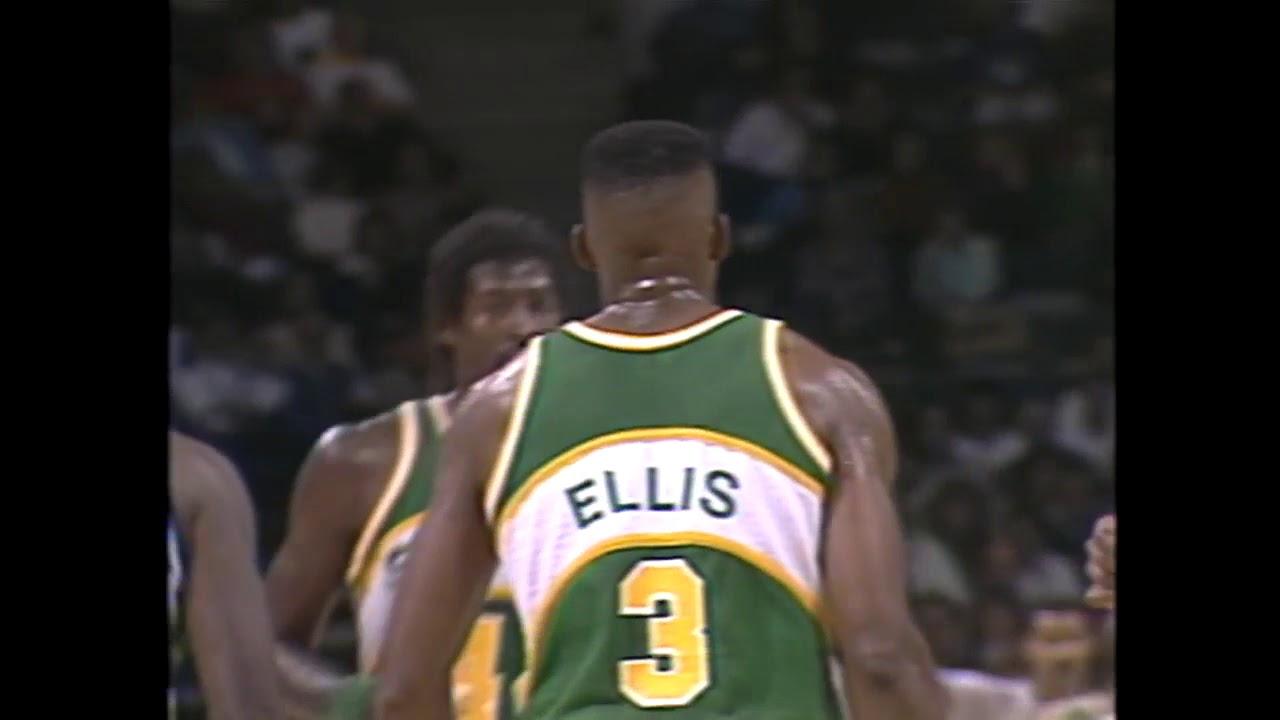 5OT NBA Classic Bucks Beat Supersonics Dale Ellis Scores 53