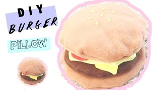 🍔 DIY Room Decor  Burger Plushie (NO SEW)  🍔 • heartcindy
