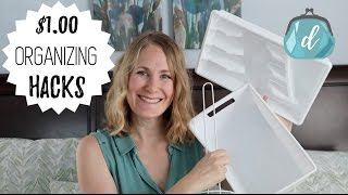 Easy Dollar Tree Organizing Hacks | Bathroom & Kitchen