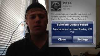 Ios 7 Download Problems, Explanation! Ways to fix (1 hour after official release) 9/13/2013 2pm