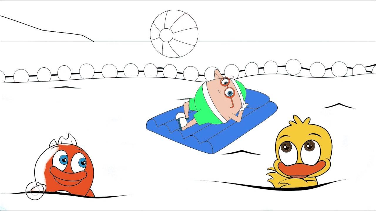 Sevimli Dostlar çizgi Film Karakter Boyama Sayfası 13 Minik Eller